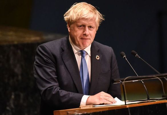 British Prime Minister Boris Johnson, speaking at the United Nations.