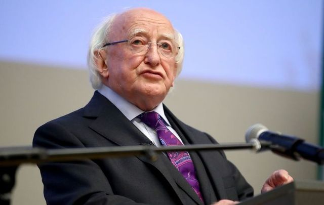 Irish President Michael D. Higgins.