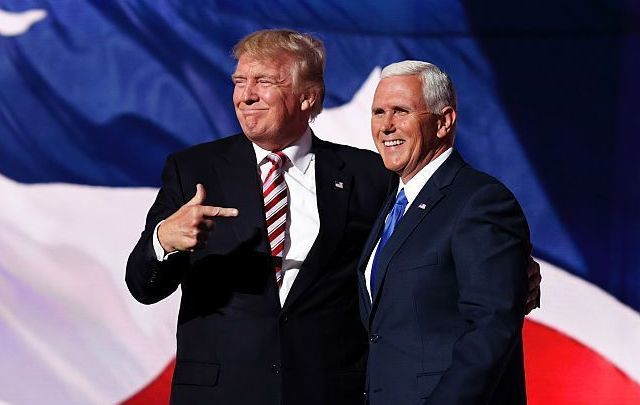 US President Donald Trump and Vice President Mike Pence.