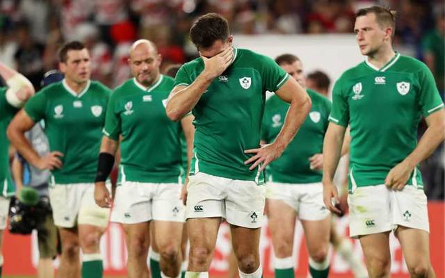 Ireland players after the Rugby World Cup 2019 Group A game between Japan and Ireland at Shizuoka Stadium Ecopa on September 28, 2019.