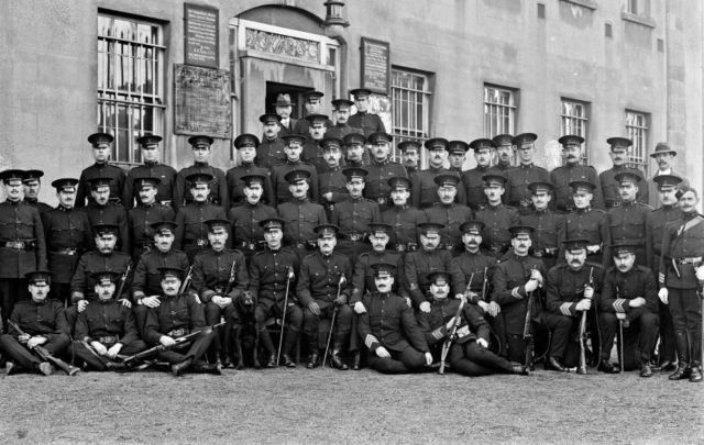 Group of RIC members with County Inspector Hetreed pictured in Waterford in November 1917