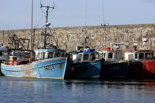 Fishing trawlers at Kilmore, County Wexford.