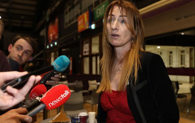 Dublin politician and Member of the European Parliament Clare Daly.