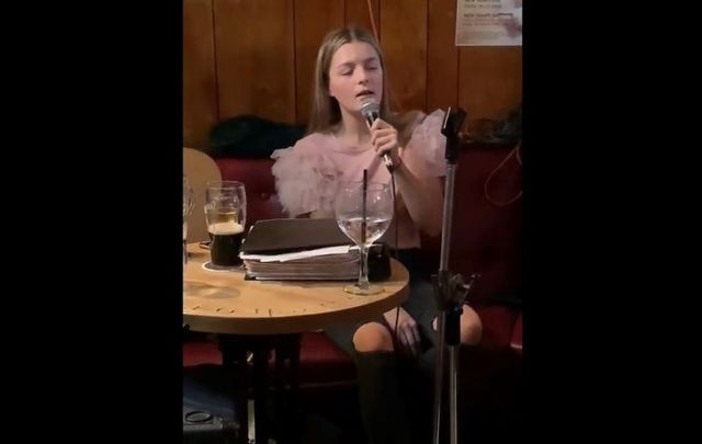 "Erin Sands, granddaughter to Irish Republican Bobby Sands, sang a stunning rendition of ""Grace\"" recently at a local pub in Co Down."