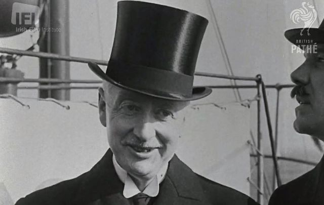 William T. Cosgrave visited the US and Canada in January 1928 to speak about Ireland\'s achievements.