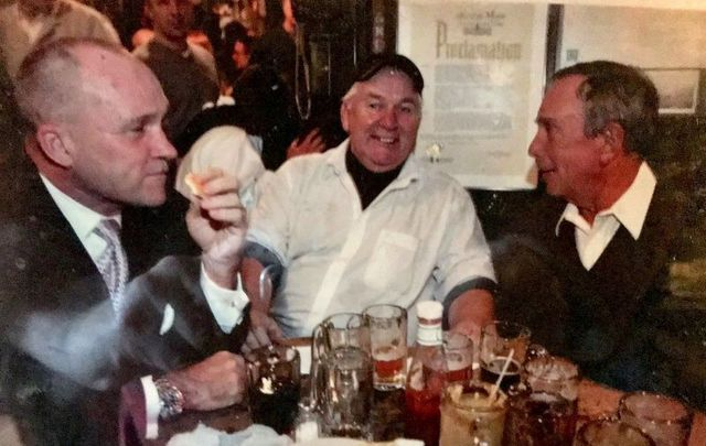 Matty Maher (center) with former NYPD Commissioner Ray Kelly (left) and former NYC Mayor Michael Bloomberg (right).