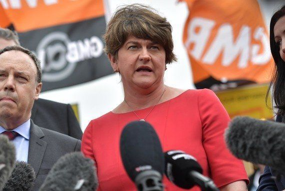 Democratic Unionist Party (DUP) leader Arlene Foster.