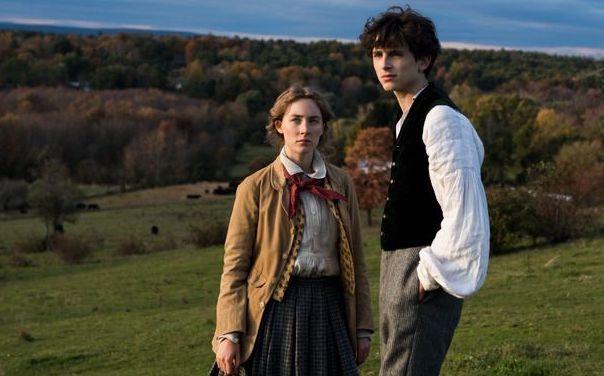 Saoirse Ronan and Timothee Chalamet in Little Women.