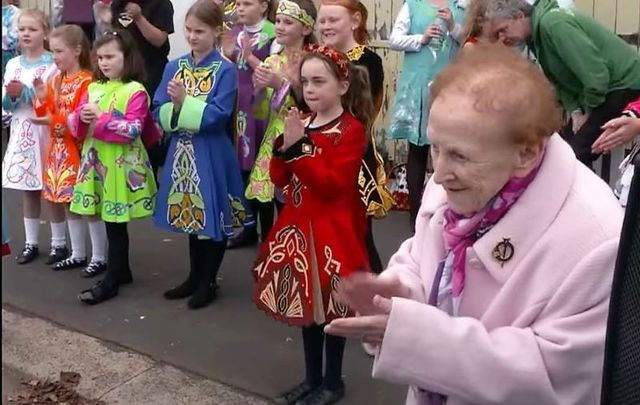 89-year-old Geraldine Ryan still teaches Irish dancing across seven towns on a weekly basis.