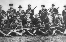 Thumb jpg sea n hogan s flying column of the irish republican army s third tipperary brigade  photographed during the war of independence. wiki commons