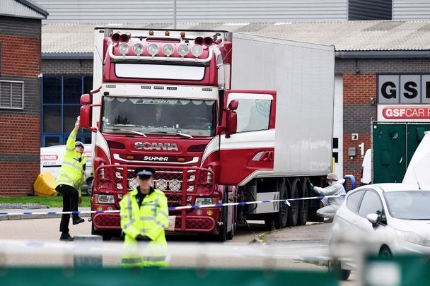 39 Vietnamese migrants were found dead in the back of this truck, in Essex, near London.