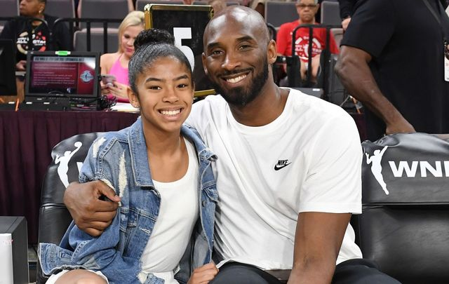 Gianna Bryant and her father, former NBA player Kobe Bryant. The father and daughter were killed in a helicopter crash in California on January 26.