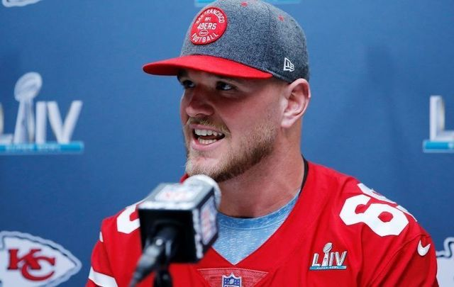 Mike McGlinchey has gone from playing for Notre Dame\'s Fighting Irish to the San Francisco 49ers.