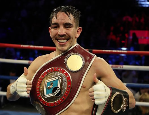 Michael Conlan celebrating a big win at Madison Sq Garden, NYC, in Dec 2019.