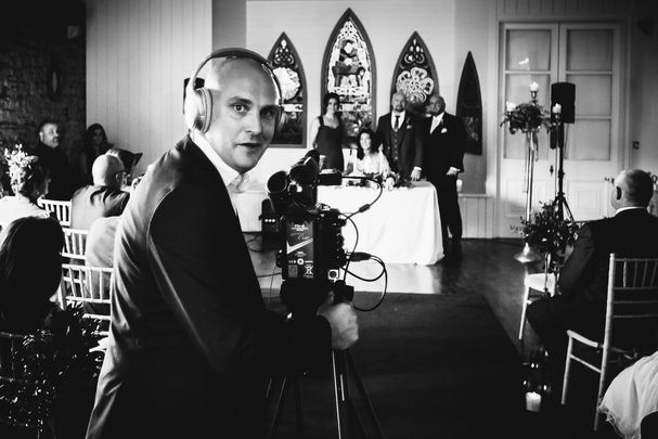 Director Alex Fegan filming The Irish Wedding documentary.