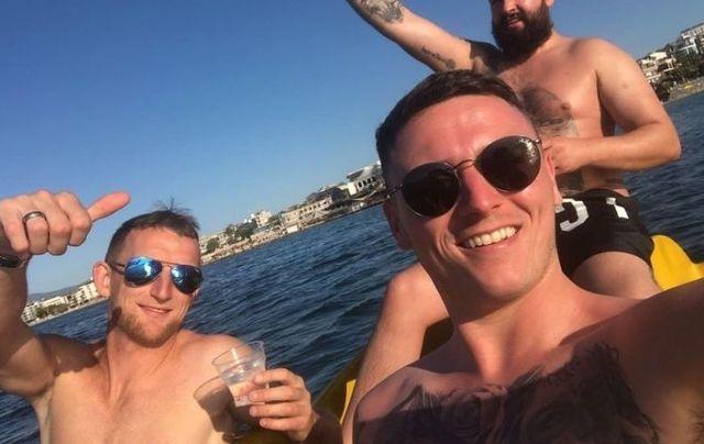The Belfast men in Turkey last week.
