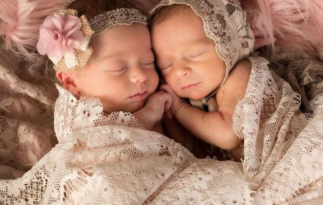 Despite being very ill with COVID-19 a Belfast Mom welcomed twin baby girls into the world.