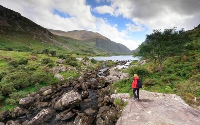 Exploring the Gap of Dunloe along the Ring of Kerry.\n