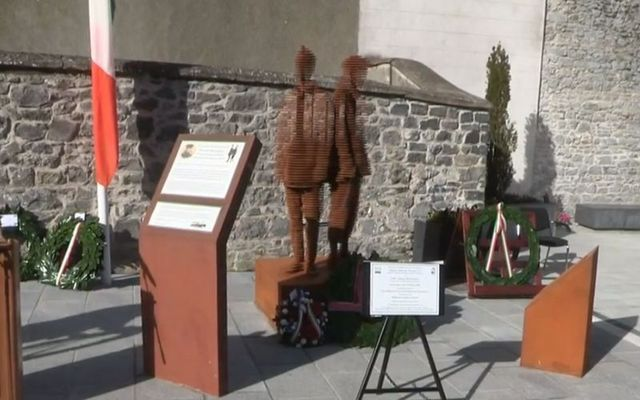 A memorial to 14-year-old Thomas Joseph Woodgate in Kilkenny.