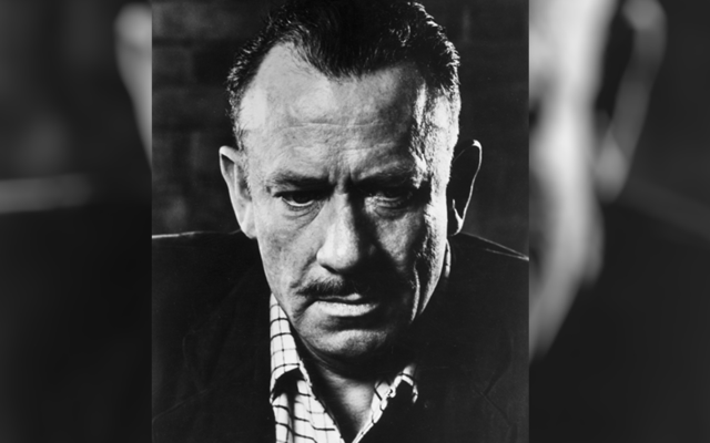 John Steinbeck, the author of novels such as Of Mice and Men, The Grapes of Wrath, and East of Eden.