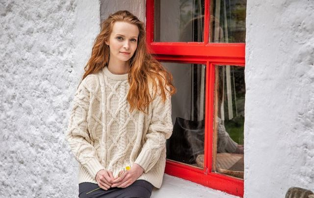 The Clifden Aran Sweater designed by Paul Costelloe for The Irish Store, based in Dublin.
