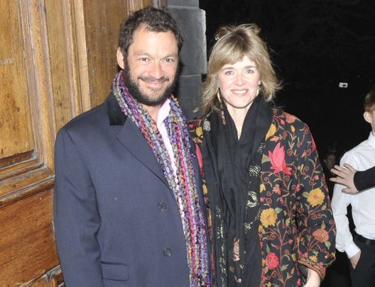Dominic West arriving to an event at Trinity College Dublin with his wife Catherine Fitzgerald, in 2011.