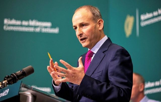 October 14, 2020: Taoiseach  Micheál Martin speaks during a press briefing.