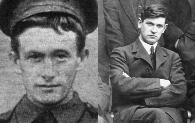 Michael O\'Leary (left) and Michael Collins (right) were both born in West Cork just weeks apart.