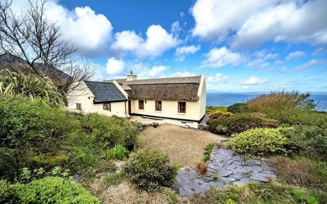Seana Thig cottage in Cahersiveen boasts spectacular views of the Atlantic Ocean.
