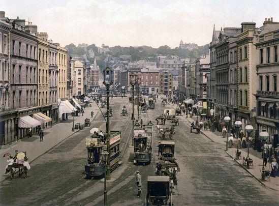 St. Patrick\'s Street, Cork city, c. 1900.