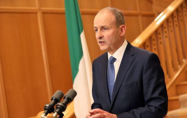 "October 19, 2020\"" Taoiseach  Micheál Martin addresses Ireland."