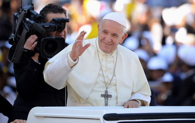 Pope Francis supports civil unions for same-sex couples.