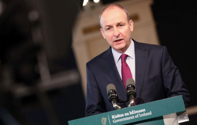 October 22, 2020: Speaking from Dublin Castle, Taoiseach Micheál Martin discusses the Shared Island initiative.