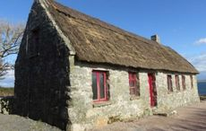 This traditional stone cottage in Galway boasts absolutely stunning views
