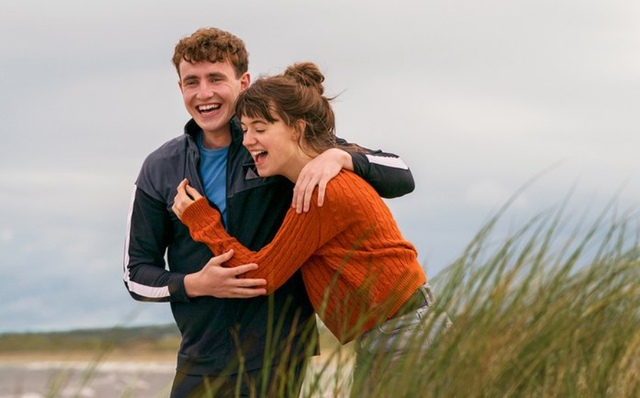 Paul Mescal and Daisy Edgar-Jones in the series, based on the Irish novel by Sally Rooney, Normal People.