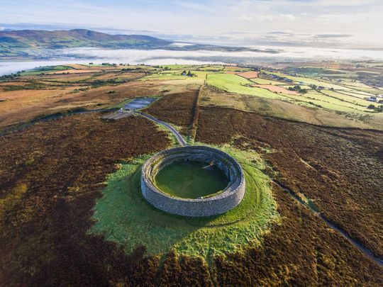 Grianán of Aileach, in Donegal, from the air!