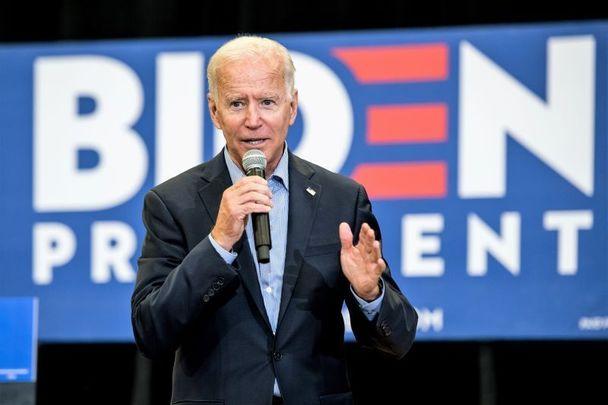 Joe Biden speaking at Dublin Castle, in 2016.