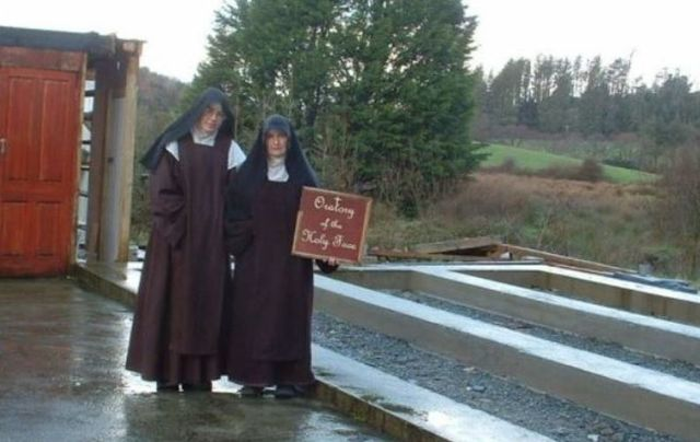 Mother Irene Gibson and Sister Anne Marie at their site in Co Cork.