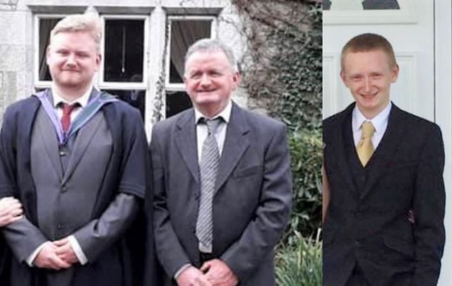 L-R: Mark O\'Sullivan, Tadhg O\'Sullivan, and Diarmuid O\'Sullivan, who were all found dead at their family home in Co Cork on October 26.