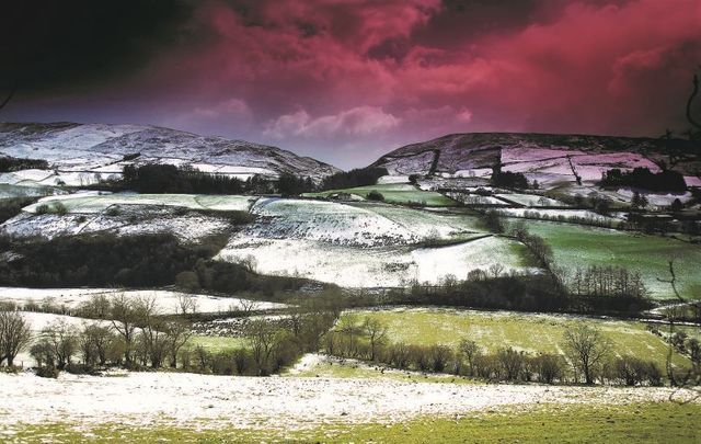 Barnes Gap in Co Tyrone during wintertime.