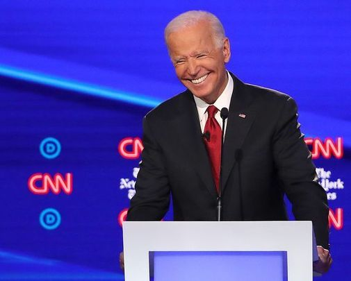 Joe Biden during a Democratic debate earlier this year.