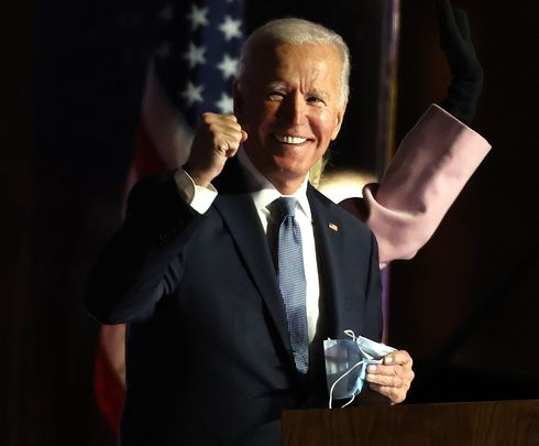 Joe Biden, speaking to his supporters in Delaware.