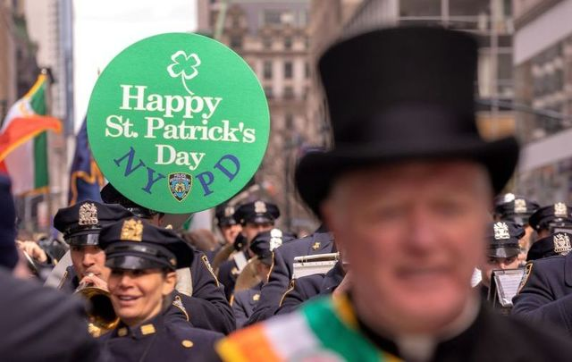 The 2019 St. Patrick\'s Day Parade in New York City.