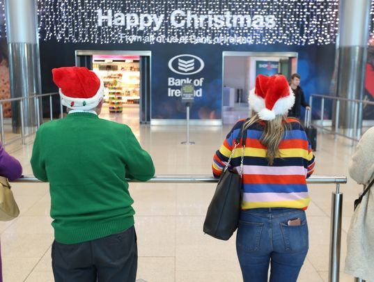 Christmas arrival scenes, like this one at Dublin Airport last year, could be nixed for 2020.