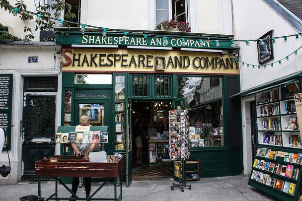 Shakespeare and Company overlooks the iconic Notre Dame Cathedral in Paris.