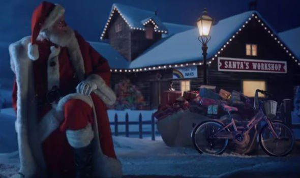 Irish actor Colm Meaney as Santa Claus in Aldi\'s new Christmas advert.