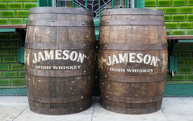 Jameson whiskey barrels.