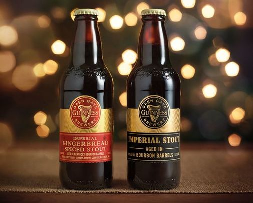 Guinness Imperial Gingerbread Spiced Stout and Guinness Imperial Stout launched in time for the holidays from Guinness Open Gate Brewery, in Baltimore, Maryland.