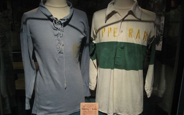 Orignal jersey worn by Tipperary (right) on Bloody Sunday, 1920.