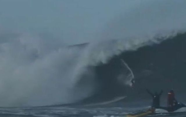 Waves reached up to 60 feet in Mullaghmore in October.